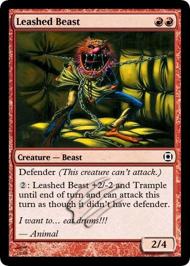 Magic the Gathering - Leashed Beast by ~rodotheman