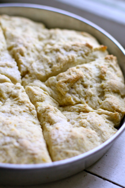 veganbreakfast:  Lemon ginger scones  Something for the fiance to test out! I admit, he's the pro scone-maker out of the two of us… I'm just the sous-chef