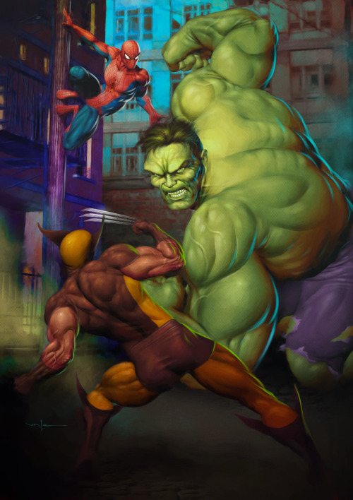 THE HULK VS. SPIDER-MAN AND WOLVERINE