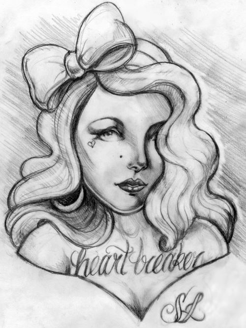 Heart breaker sketch pencil on paper.