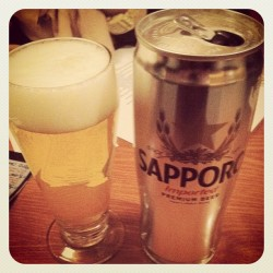 Starting off the night with Sushi and Sopporo (Taken with instagram)