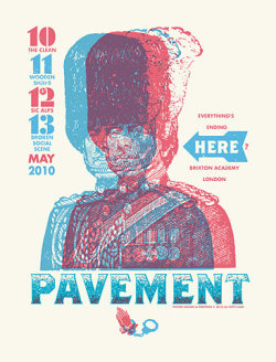 Working at home while listening to Pavement. Great band, great poster. Artist Unknown.