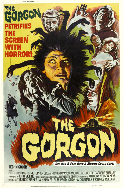 greggorysshocktheater:  One sheet for The Gorgon (1964)