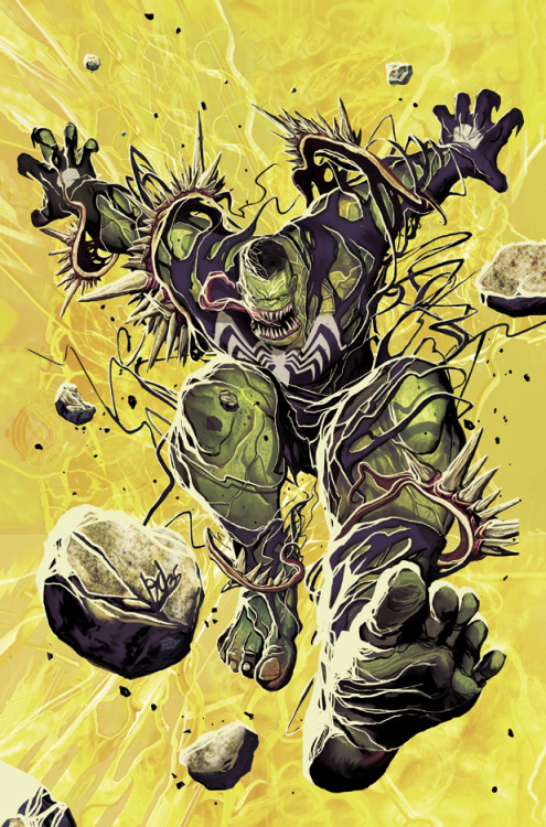 comicsforever:  Hulk: Deadly Symbiote! // artwork by DeadlydelMundo (2012) Variant cover for Hulk #4.