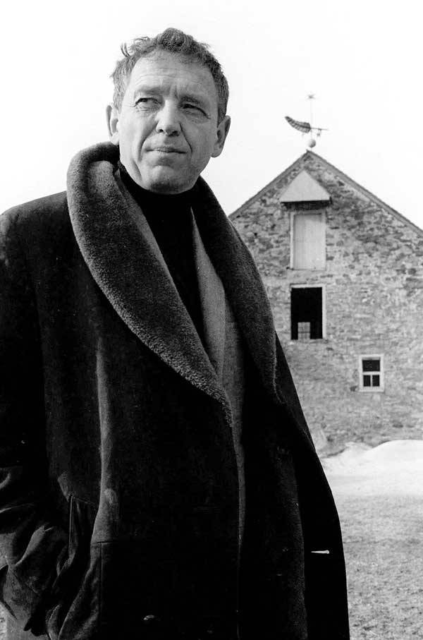 Andrew Wyeth in front of his farm in Chadds Ford, PA, 1964.