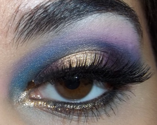 A lovely eye look inspired by mermaids from Beautylish Beauty Calla P.!