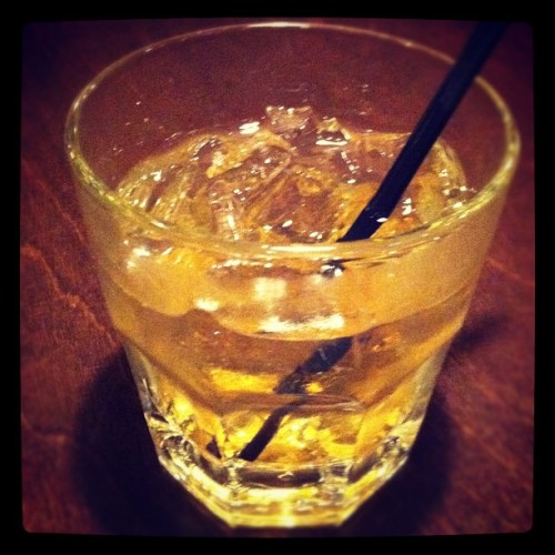January 20, 2012: Bulleit Bourbon and Ginger Ale (Taken with Instagram at Pies & Pints)