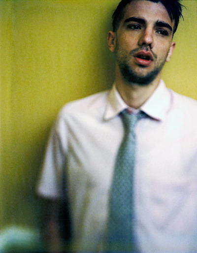 day19:  I've always loved this portrait of actor Jay Baruchel shot in our living room on 4x5 Polaroid film.  ©Jeremy&Claire Weiss/Day19