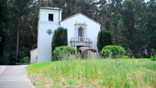 No. 201: VIEW Chapel at San Francisco's Presidio. It was built in the 1930s in the Spanish Colonial Revival style.