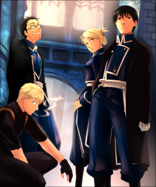 fyequivalentexchange:  The Flame Alchemist, The Hawkeye , The Smoker And The Obsessed Family Man.    #cannot process the amount of love i have for this