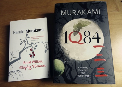 melonpuff:  Bought two new books today! Both by Haruki Murakami. I'm going to be so upset when Uni starts as it means I probably won't have much free time to read :/   After a LONG time, I've finally finished 1Q84! Had to put it aside for so long due to Uni .____. Set in the year 1984, it follows the lives of Tengo and Aomame as they separately enter a sort of parallel universe which Aomame names 1Q84. There's a lot of comment regarding writing and literature, but also humourous moments. The concept of the air chrysalis and the description of their construction was magical - most times it felt like if I looked hard enough, I would be able to see the white silken strands in the air. Definitely a novel worth reading.  Time to start another Haruki Murakami novel x3