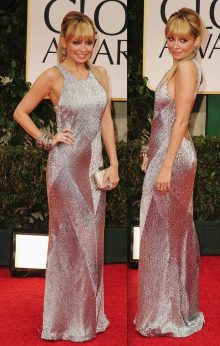 One of my favs at the 2012 Golden Globes- Nicole Richie in Julien Macdonald.