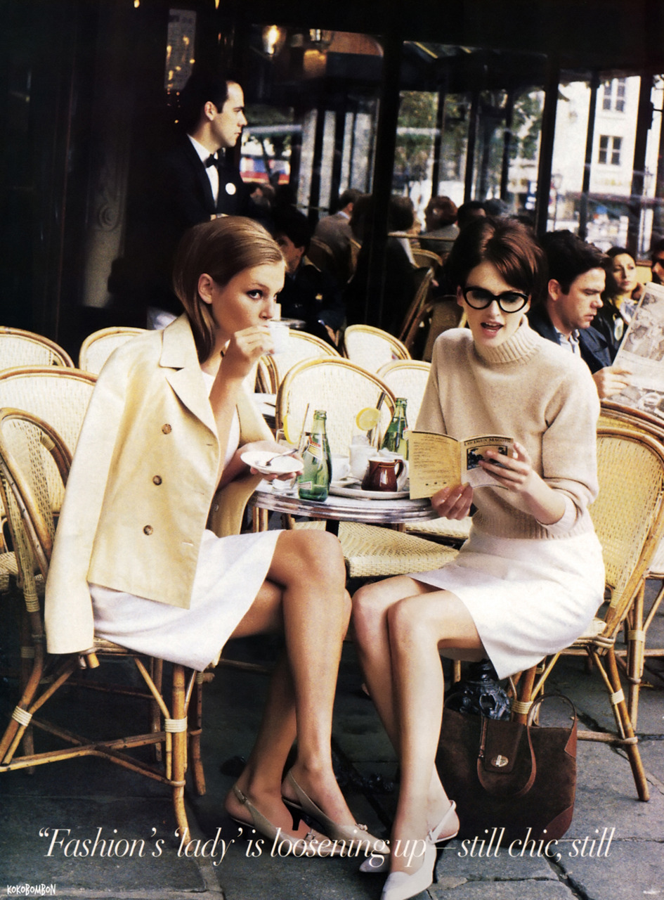 Bridget Hall and Kylie Bax photographed by Pamela Hanson for Vogue, January 1996