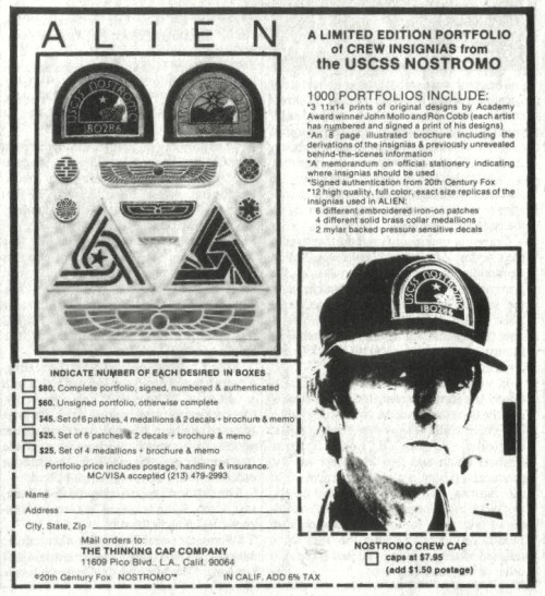 orcrist:  Vintage Alien merchandise ad, scanned by raw-dealBrett!  I wanna be Brett next Halloween