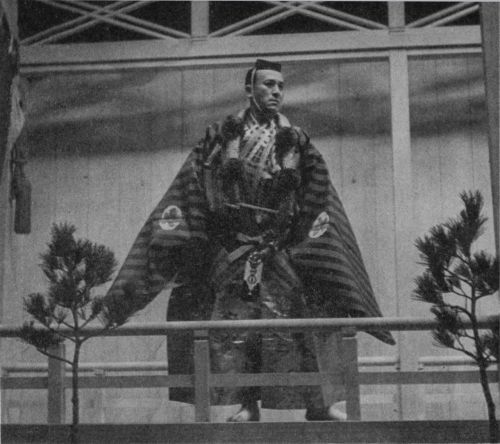 Kanze Sakon performing Noh theatre in 1938.