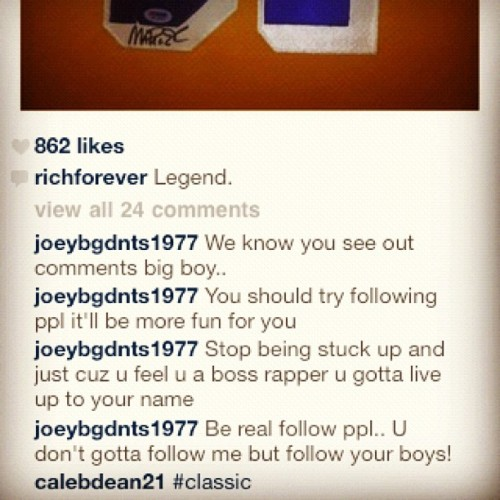 The #FollowPolice harassing the #Bawse #RickRoss (Taken with instagram)