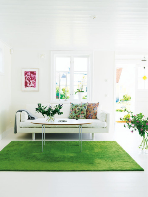 Strangely drawn to this grass in the living room idea….