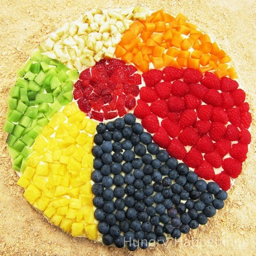 Beach Ball Sugar Cookie with fruits