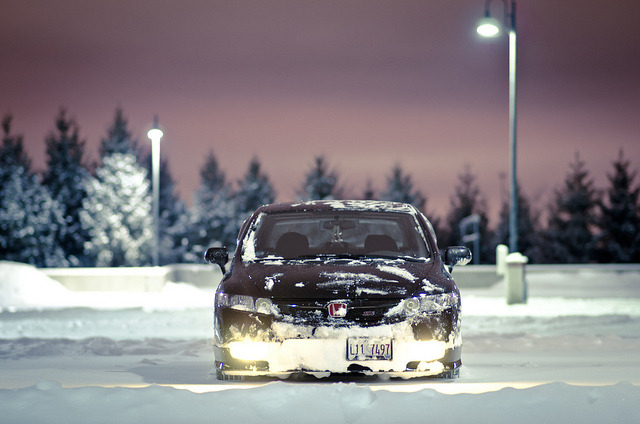 Snowy Parking. on Flickr.
