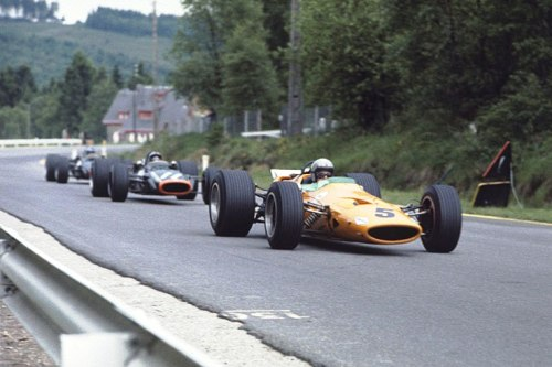 Bruce McLaren at the 1968 Belgian Grand Prix