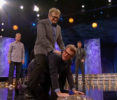 I am so tired of carrying you, Drew Carey!