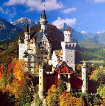 Neuschwanstein castle, Bavaria. Fun fact- this is where Walt Disney got the idea for the Sleeping Beauty castle.