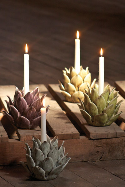 thelittlecorner:  The Little Corner ~Ceramic Flower Candle Holder