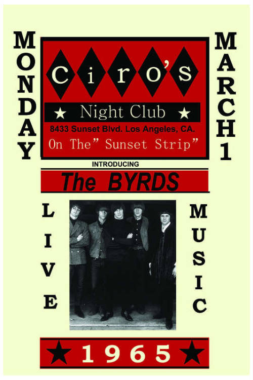 Byrds At Ciro's Club Sunset Strip Poster 1965 at www.endlessposters.com.