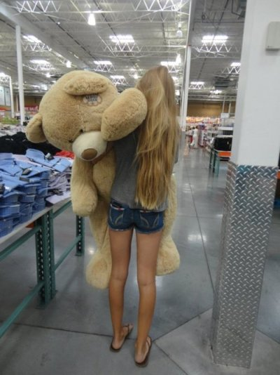 who will give me this cute huge bear on my day? HAHAHAHA~