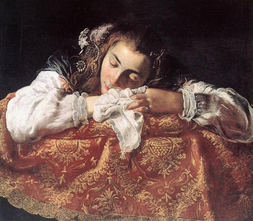 uno-sole-minor:  Domenico Fetti - Sleeping girl