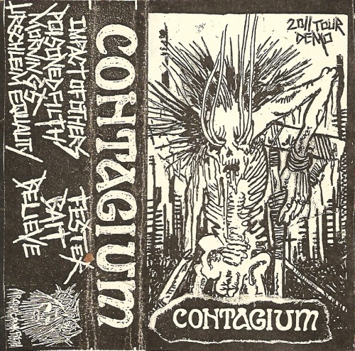 -CONTAGIUM 2011 CANADIAN TOUR TAPE- sharpie