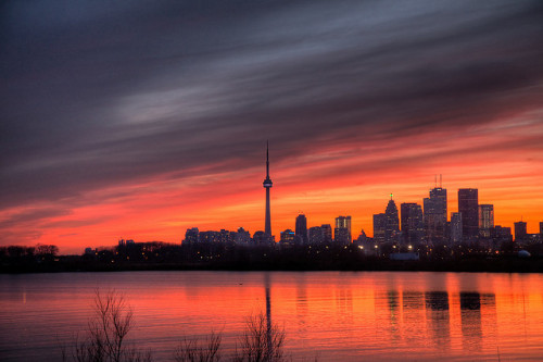 Toronto Sunset HDR by Dr. Ilia on Flickr.