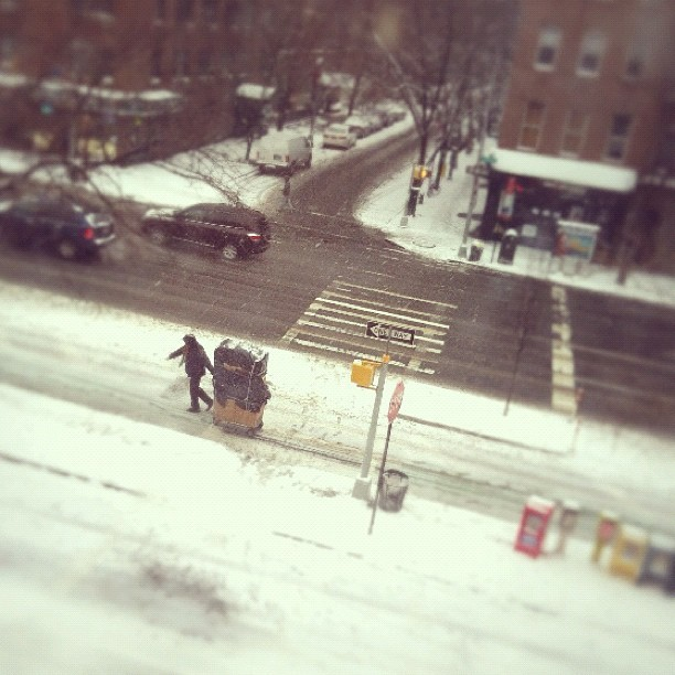 Snow!!! #snow #tiltshift  (Taken with instagram)