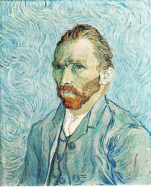 "ARTIST: VINCENT WILLEM VAN GOGH BORN: 30 MARCH 1853 ZUNDERT, NETHERLANDS DIED: 29 JULY 1890 AUVERS SUR OISE, FRANCE NATIONALITY: DUTCH FIELD: PAINTING, DRAWING, PRINTMAKING MOVEMENT: POST - IMPRESSIONISM VAN GOUGH PRODUCED MORE THAN 2100 ARTWORKS, CONSISTING OF APROX 860 OIL PAINTINGS AND MORE THAN 1,300 WATERCOLOURS, DRAWINGS, SKETCHES AND PRINTS. HIS WORK UNCLUDED SELF PORTRAITS, LANDSCAPES, STILL LIFES OF FLOWERS, PORTRAITS AND PAINTINGS OF CYPRESSES, WHEAT FIELDS AND SUNFLOWERS. ""I FEEL THAT THERE IS NOTHING MORE TRULY ARTISTIC THAN TO LOVE PEOPLE."" — VINCENT VAN GOUGH."