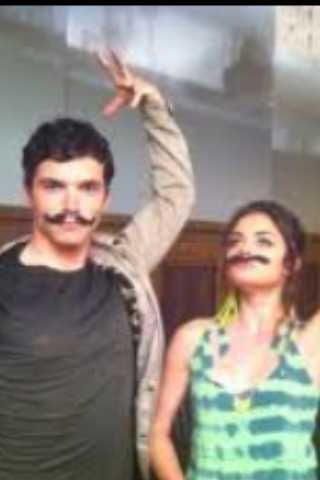 Lucy hale and Ian Harding