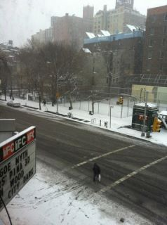 Welcome backkk :)   This is what I saw when I opened my curtains in NYC today after coming back from Europe last night!!!! Snow is always so exciting! Enjoy the day and HELLO and HAPPY NEW YEAR to ALL !!!