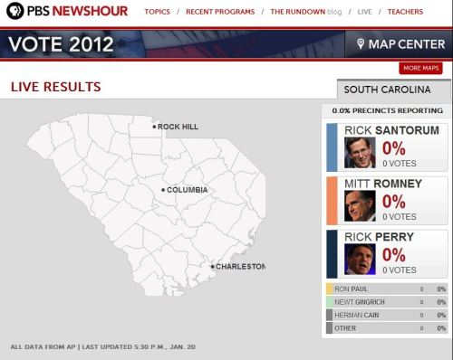 Stay tuned to this map for live results of the South Carolina primary all night. Fun Saturday plans right there.