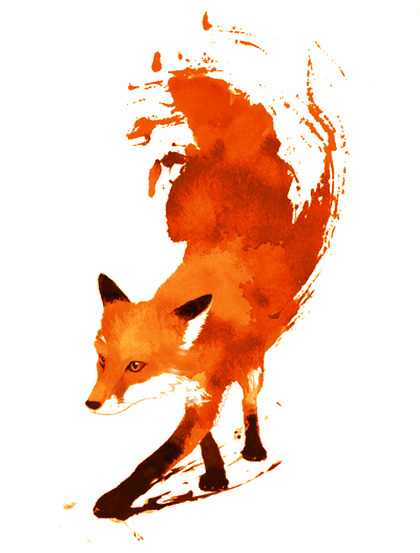 I wish I could paint like this. #FoxArt