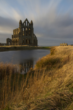 england-dreams:  norfolkcarl:  Whitby Abbey, a monastic memory on the wild Eastern coast of Yorkshire. Slowly crumbling, its presence serves to remind us of times past and poses a warning for the future. Nothing is certain, we are all drifting through time.  omg