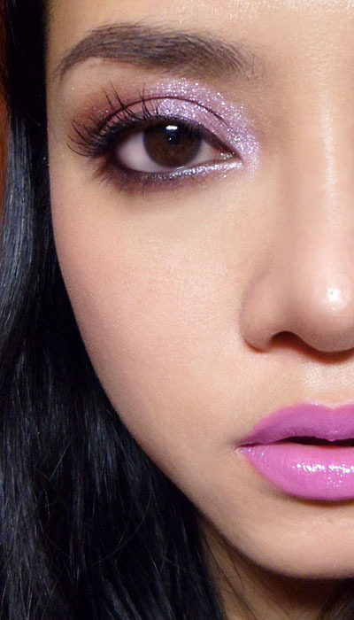 "Violet Sparkle (MAC Light Violet and Circa Plum Pigment) —- I think I've been doing too many purple looks lately… I can't help it - there were so many beautiful purples out recently.) This time round, I'm playing around with 2 pigments that I haven't actually used much. The shades are just for your reference, and you don't really have to go out and buy the exact same colors, but if you do, my recommendation would be Circa Plum pigment (out with the Daphne Guiness collection), as it's a harder color to dupe than Light Violet.  What you'll need are: A soft ""dirty-plum"" that is in-between grey, beige, and purple [Circa Plum]: now you get why I saw this is hard to dupe? A pale lilac micro-glitter [Light Violet crushed metallic pigment]: if you don't own this, don't fret. It's really annoying to work with. I just happen to own it because I bought the purple Dazzlesphere from the recent holiday collection. Kitschmas pigment from the regular line will do just fine.  [Swatched: MAC Circa Plum (left) and Light Violet (right) packed on strong] —-  Step 1: Apply a soft brown base to the entire lid. I'm using MAC Take Root Cream Color Base but you can use any soft brown. —-  Step 2: Sweep MAC Circa Plum or any soft dusty-purple pigment over the entire lid. Run along the lower lash line as well. —-  Step 3: Flip your brush over and apply a wash of a pale, sparkly lilac pigment over the lids, concentrating most of the color on the inside corners, and fading toward the outer ends. This pigment is not designed to be worn opaque, so it may take some work packing it into the inner corners. —-  Step 4: Run a metallic purple gel liner (MAC Macroviolet) along the upper lash line, and then run black kohl along the inner rims of the lids. Finish with black mascara. —-   Step 5: Apply a soft pale-pink blush to the cheeks. I'm using a mousse blush by Essence  called 01 Prima Ballerina. —-  Step 6: To finish up the whole look, apply a bright medium purple lipstick tot he lips. I'm using MAC Sheen Supreme Lipstick in Asian Flower. (Note that this lipstick stains the lips so the color will look less purple over the day, as your lips redden. Apply it over a flesh colored lip primer if you want it to stay purple.) *Alternative; Lime Crime Airborne Unicorn is more opaque and a stronger purple, so I opted for a softer shade. You can always blot the Lime Crime and top it with a little clear gloss for a similar effect."