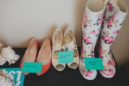 shoes: ceremony, reception, and just in case!