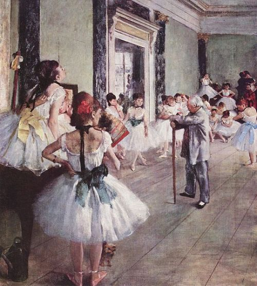 LA CLASSE DE DANSE - THE DANCE CLASS - DIE TANZKLASSE ARTIST: EDGAR DEGAS DATE: 1875 MEDIUM: OIL ON CANVAS