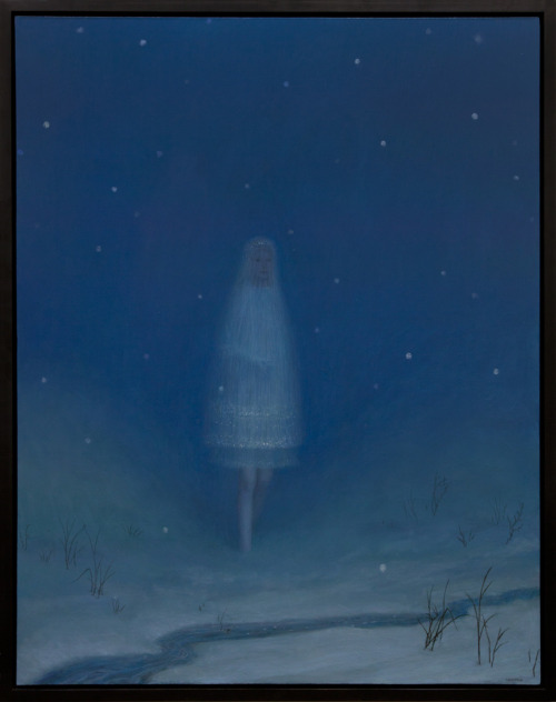 "Aron Wiesenfeld, ""Snow As A Girl,"" Oil on Canvas, 56.5"" x 44.5"""