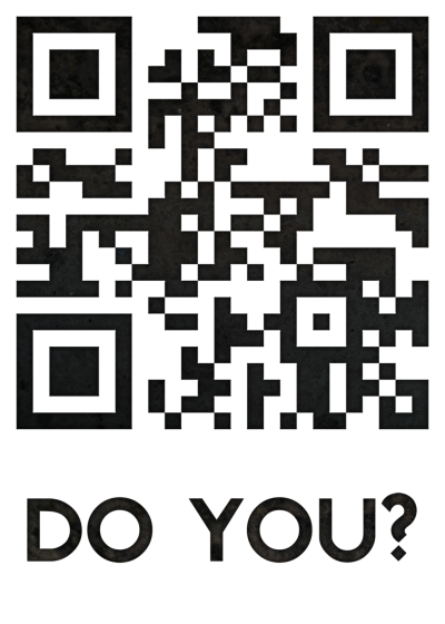 "ceilingtheo:  [A QR code which displays the text ""I BELIEVE IN SHERLOCK HOLMES"" when scanned, with the text ""DO YOU?"" beneath.] I BELIEVE IN SHERLOCK HOLMES. DO YOU? Here's an A4 300dpi version, if anyone wants it."