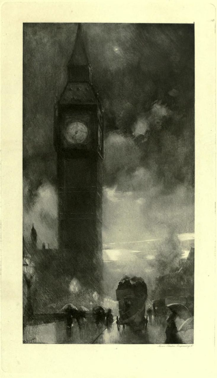 THE CLOCK TOWER, WESTMINSTER. London impressions : etchings and pictures in photogravure (1898) Author: Meynell, Alice Christiana Thompson, 1847-1922; Hyde, WilliamSubject: London (England) — Pictorial worksPublisher: Westminster (London) : A. Constable