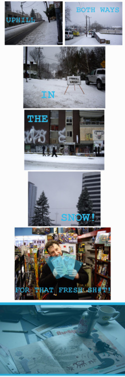 snow's melting here already, but it was still a lot of fun, if just to say i did it..; ) first issue was rock solid, for anyone who's wondering.