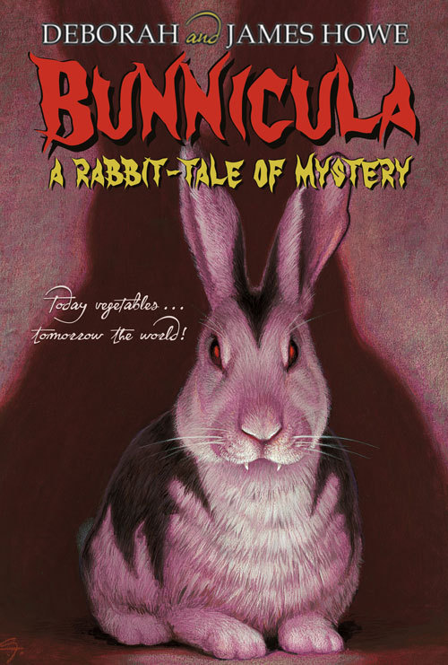 Did you ever read Bunnicula in elementary school? I did, when I was six. It was really good and I loved it. But I could never look at rabbits the same way again.    The rabbit from the Trix commercial? Creepy.The Energizer Bunny? So scary.The Easter bunny? In my house?! Forget it!     #elementary school trauma