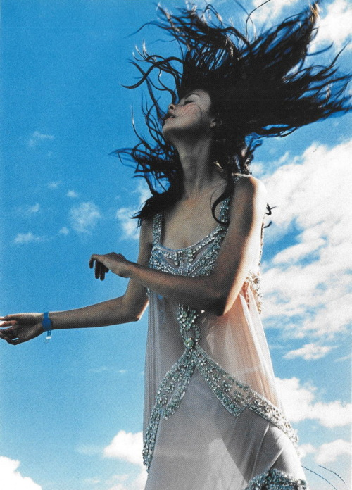 witchesandslippersandhoods:  John Galliano chiffon slip dress, photographed by Tim Walker, 1998