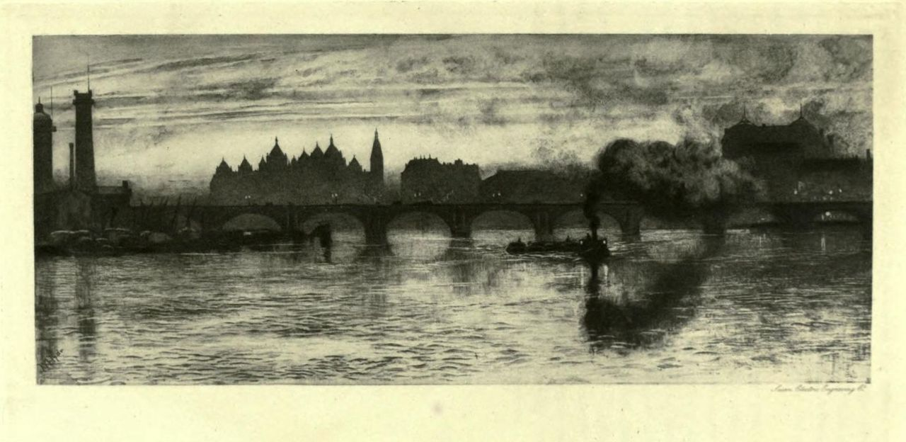 WATERLOO BRIDGE. London impressions : etchings and pictures in photogravure (1898)  Author: Meynell, Alice Christiana Thompson, 1847-1922; Hyde, WilliamSubject: London (England) — Pictorial worksPublisher: Westminster (London) : A. Constable http://www.archive.org/details/londonimpression00meynuoft