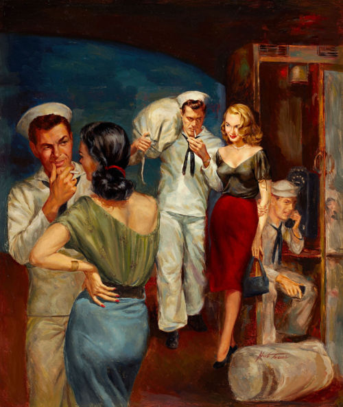 Sailor's Weekend, paperback cover by Herbert Tauss (1952)